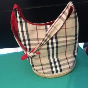 Burberry nova check bucket bag. Great condition